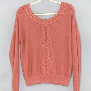 Roxy Back V neck Long Sleeve Sweater